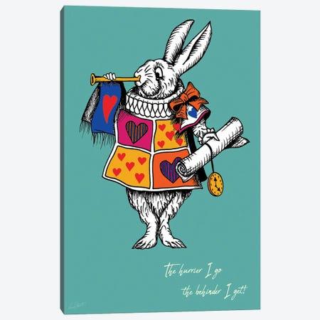 Alice in Wonderland The White Rabbit Colour Canvas Print #EOR17} by Eleanor Stuart Art Print