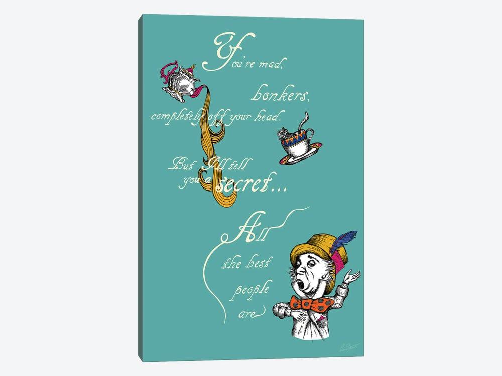 Alice in Wonderland You're Mad Colour by Eleanor Stuart 1-piece Canvas Art Print