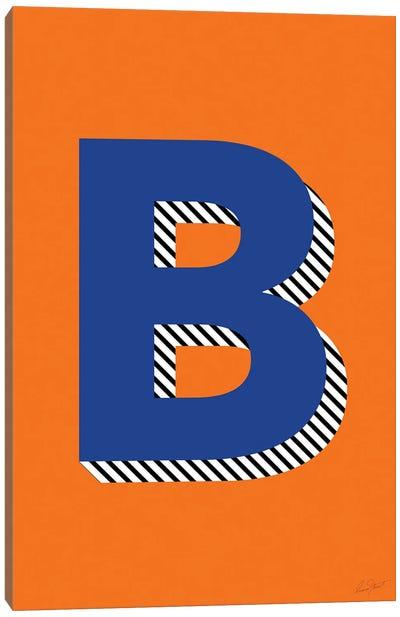 Letter B Canvas Art Print