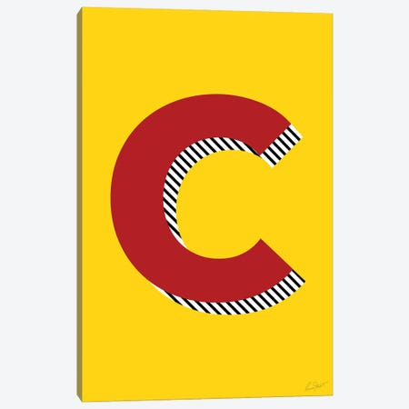 Letter C Canvas Print #EOR23} by Eleanor Stuart Canvas Art Print