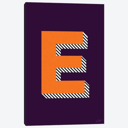 Letter E Canvas Print #EOR25} by Eleanor Stuart Canvas Artwork