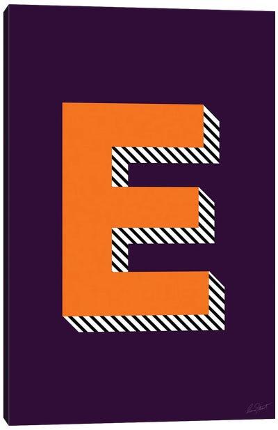 Letter E Canvas Art Print