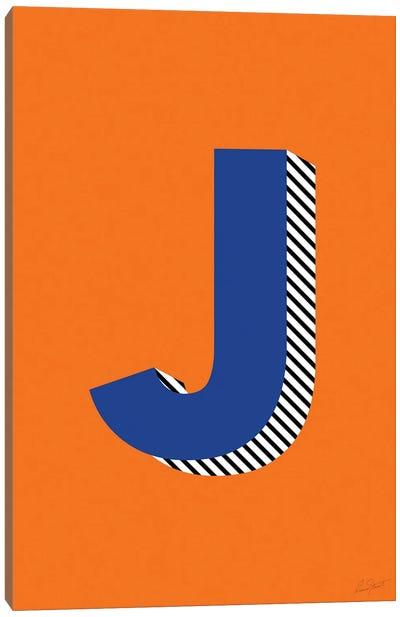 Letter J Canvas Art Print
