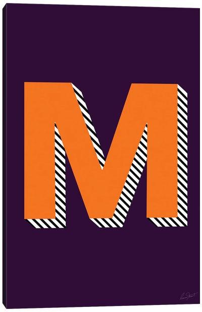 Letter M Canvas Art Print