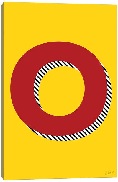 Letter O Canvas Art Print