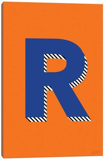Letter R Canvas Art Print