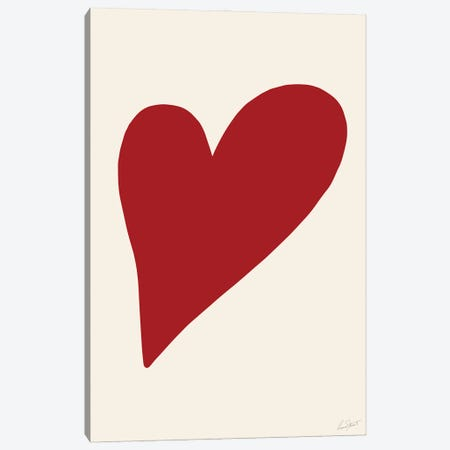 Abstract Heart Canvas Print #EOR3} by Eleanor Stuart Art Print