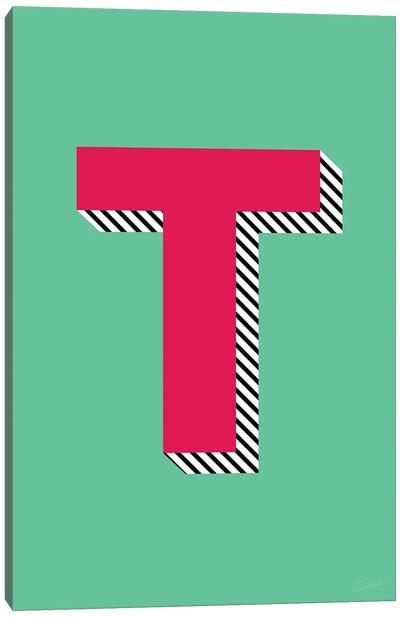 Letter T Canvas Art Print