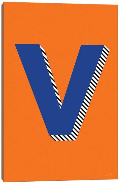 Letter V Canvas Art Print