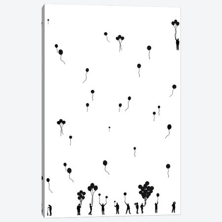 The Balloon People Canvas Print #EOR47} by Eleanor Stuart Canvas Wall Art