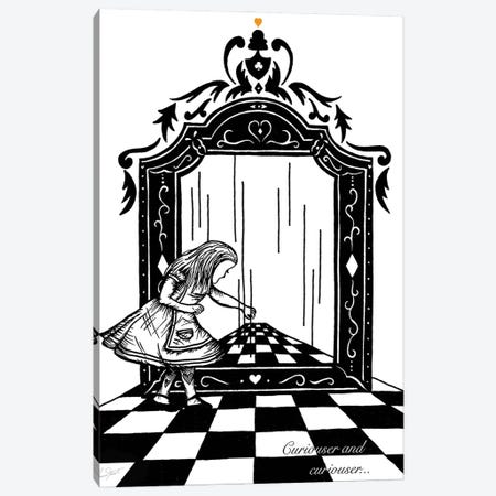Alice and the Looking Glass Canvas Print #EOR5} by Eleanor Stuart Canvas Wall Art