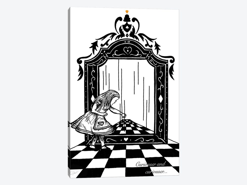 Alice and the Looking Glass by Eleanor Stuart 1-piece Canvas Art