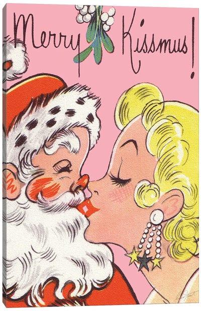 Merry Kissmus! Canvas Art Print
