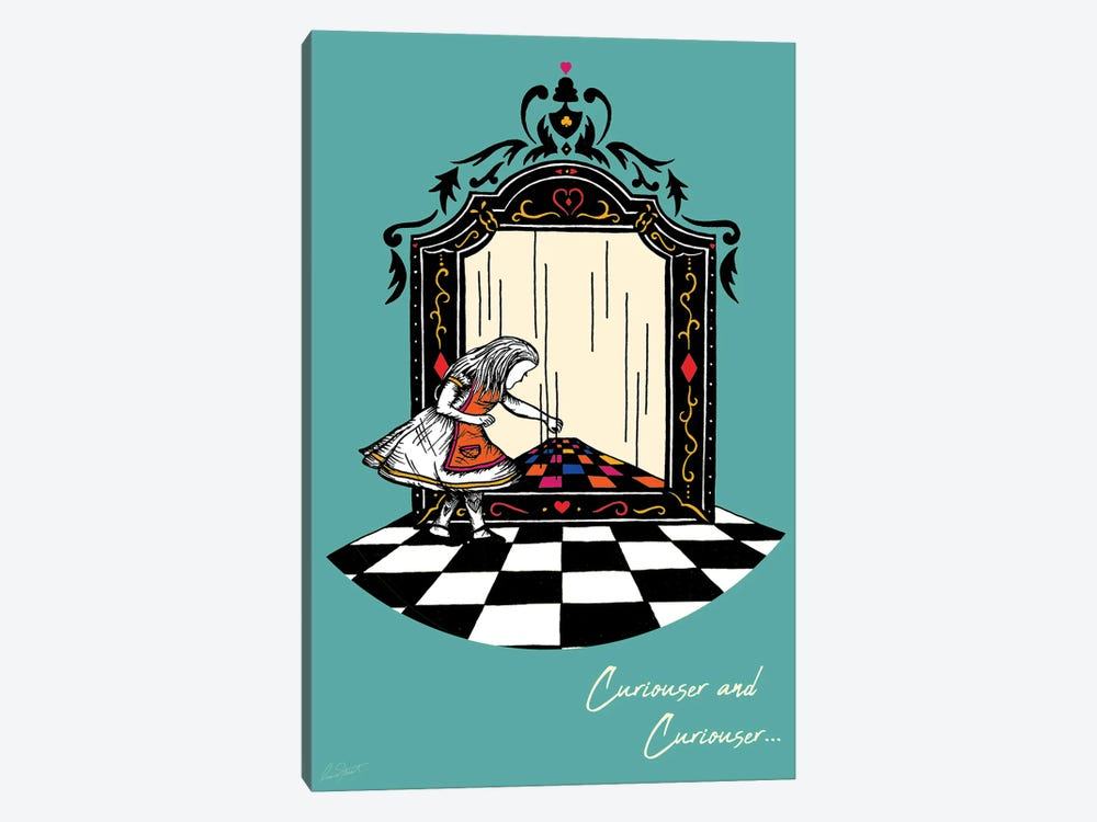 Alice and the Looking Glass Colour by Eleanor Stuart 1-piece Canvas Print