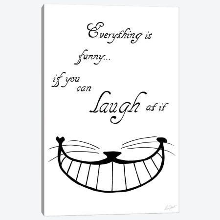 Alice in Wonderland Everything is Funny Canvas Print #EOR7} by Eleanor Stuart Canvas Artwork