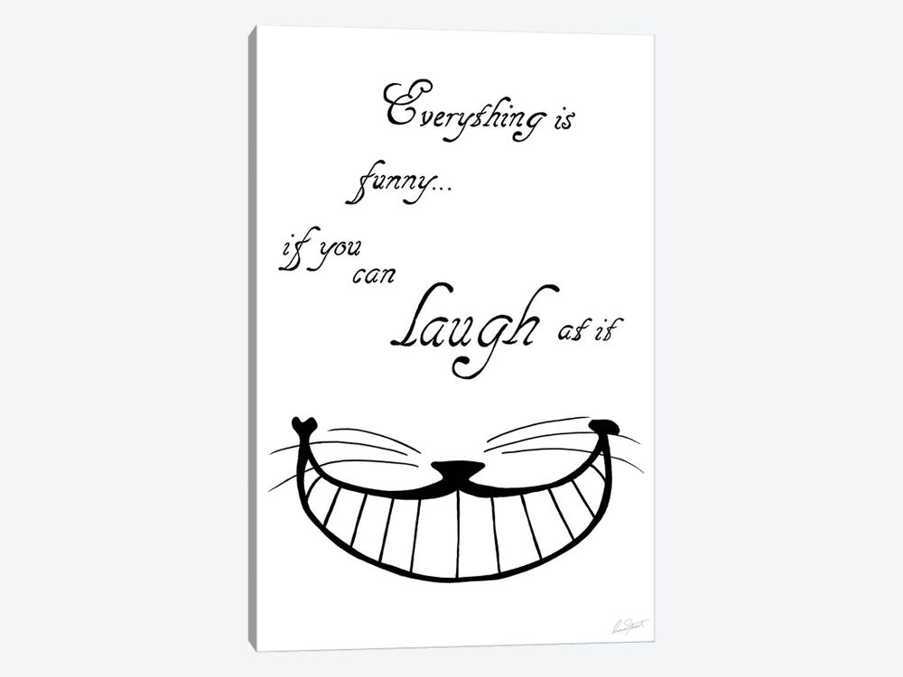 Alice in Wonderland Everything is Funny by Eleanor Stuart 1-piece Canvas Wall Art