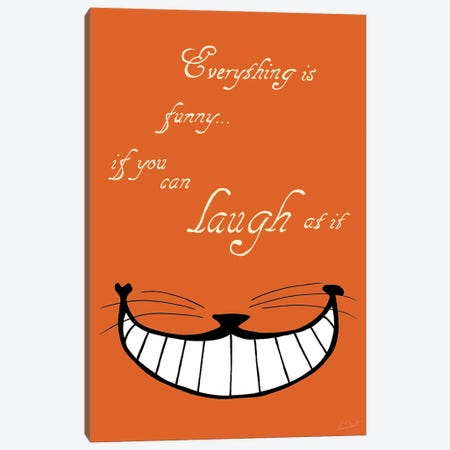 Alice in Wonderland Everything is Funny Colour Canvas Print #EOR8} by Eleanor Stuart Canvas Art Print