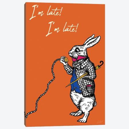 Alice in Wonderland I'm Late I'm Late Colour Canvas Print #EOR9} by Eleanor Stuart Art Print