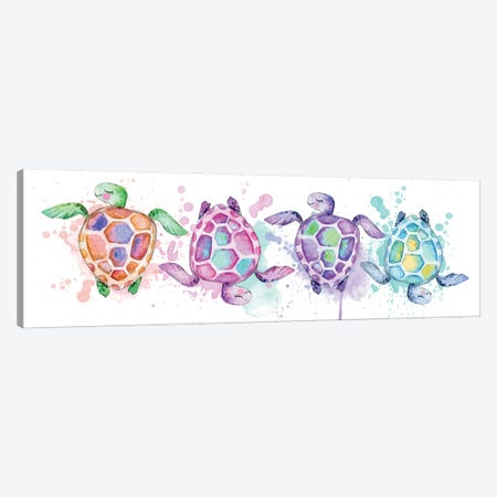 Sea Watercolor Turtles Canvas Print #EPG101} by Ephrazy Graphics Canvas Artwork