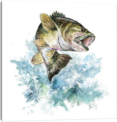 Bass Fishing Canvas Art Print