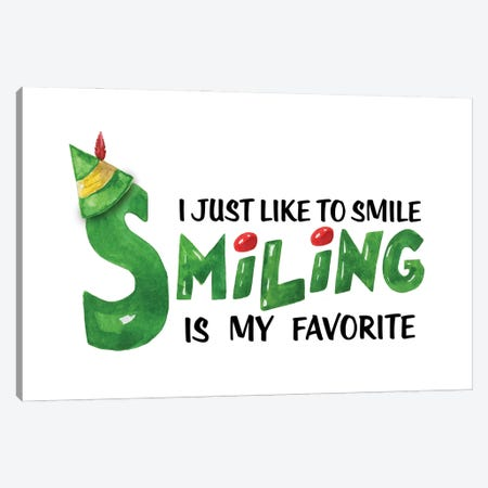 Elf. I Just Like To Smile Canvas Print #EPG12} by Ephrazy Graphics Canvas Artwork