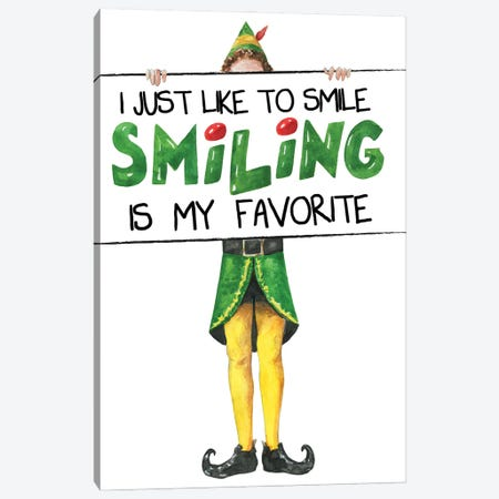 Elf II. I Just Like To Smile Canvas Print #EPG13} by Ephrazy Graphics Canvas Wall Art