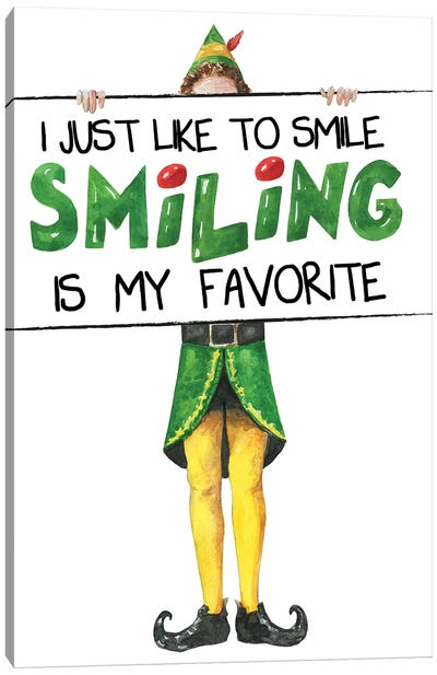 Elf II. I Just Like To Smile Canvas Art Print