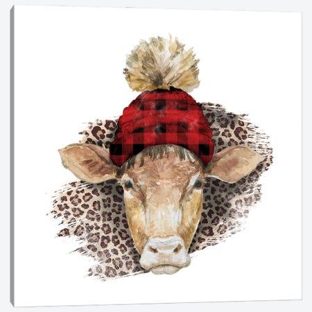 Cow Head Christmas II Canvas Print #EPG15} by Ephrazy Graphics Art Print