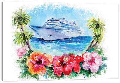 Cruise Ship Canvas Art Print