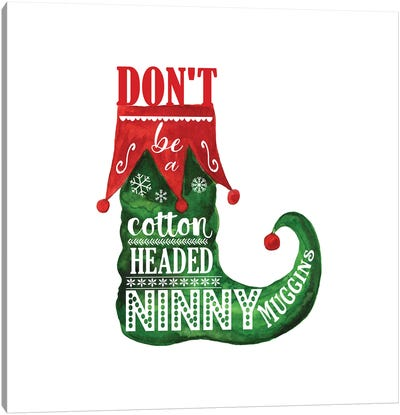 Elf. Ninny Muggins Canvas Art Print