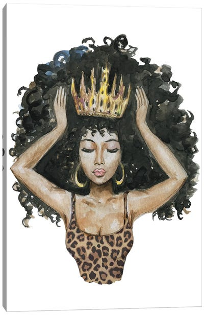 Afro Qween I Canvas Art Print