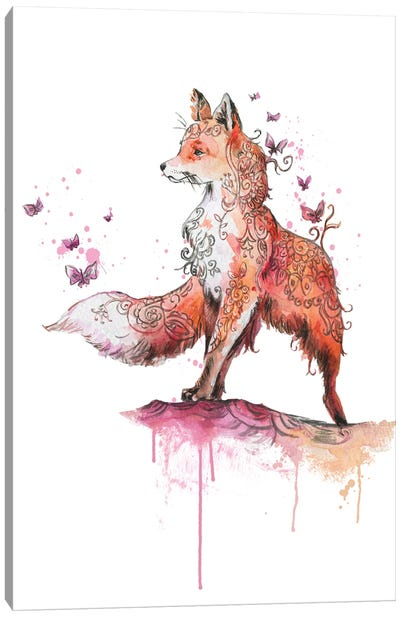 Fox Mandala Canvas Art Print