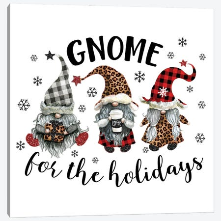Gnome For The Holidays Canvas Print #EPG37} by Ephrazy Graphics Art Print