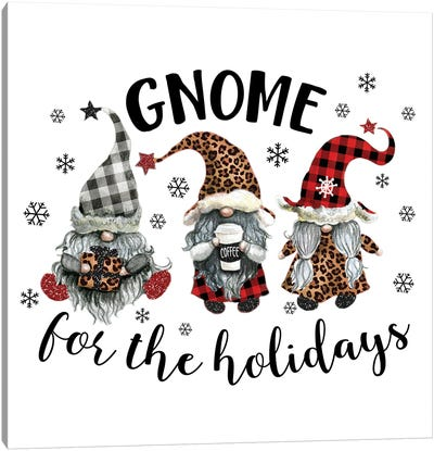 Gnome For The Holidays Canvas Art Print