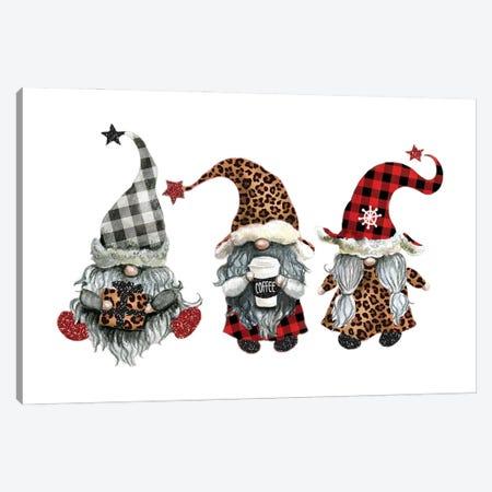 Gnome Christmas Canvas Print #EPG38} by Ephrazy Graphics Canvas Artwork