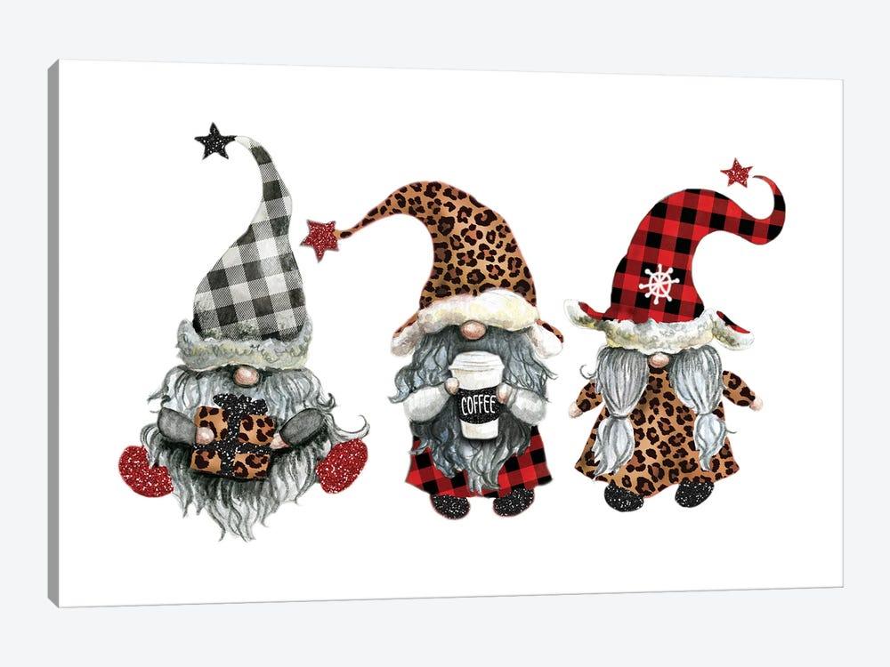 Gnome Christmas by Ephrazy Graphics 1-piece Canvas Art