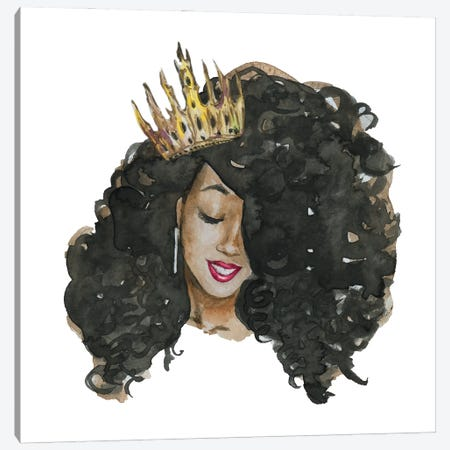 Afro Qween II Canvas Print #EPG3} by Ephrazy Graphics Canvas Artwork