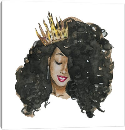 Afro Qween II Canvas Art Print