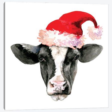 Cow Head. Christmas Canvas Print #EPG43} by Ephrazy Graphics Canvas Print