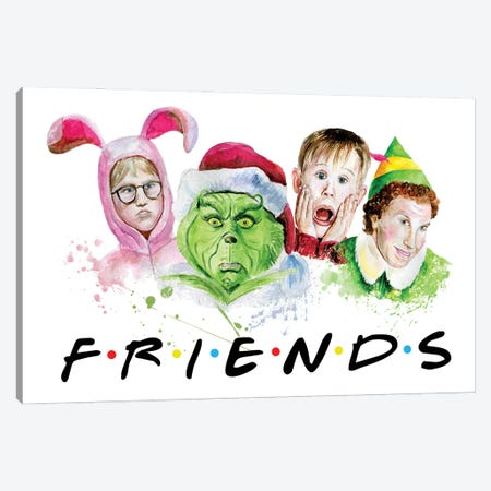 Christmas Friends Canvas Print #EPG44} by Ephrazy Graphics Canvas Artwork
