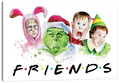 Christmas Friends Canvas Art Print