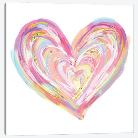 Valentine's Day Colorful Heart Canvas Print #EPG51} by Ephrazy Graphics Canvas Art