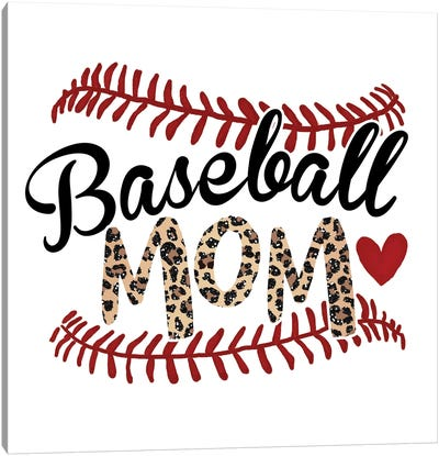 Baseball Mom Canvas Art Print