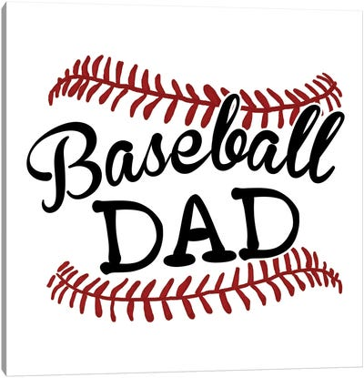 Baseball Dad Canvas Art Print