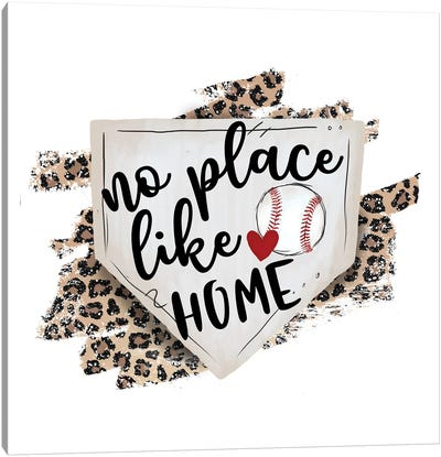 Baseball. No Place Like Home Canvas Art Print