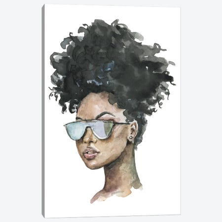 Afro Girl With Sunglasses Canvas Print #EPG5} by Ephrazy Graphics Canvas Print
