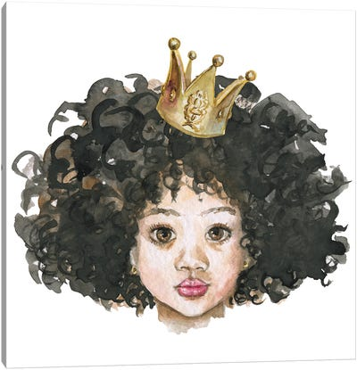 Afro Little Princess Canvas Art Print