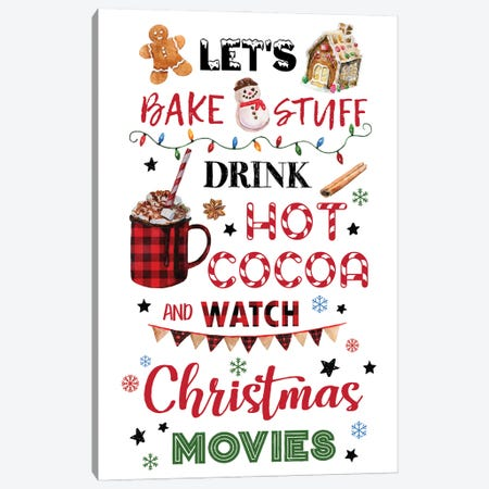Let's Bake Stuff Canvas Print #EPG70} by Ephrazy Graphics Canvas Wall Art