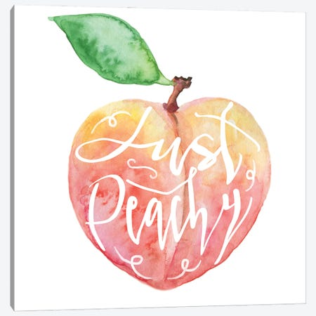 Just Peachy Canvas Print #EPG71} by Ephrazy Graphics Canvas Art