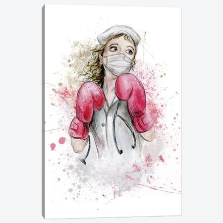 Fighting Nurse I Canvas Print #EPG80} by Ephrazy Graphics Canvas Art Print